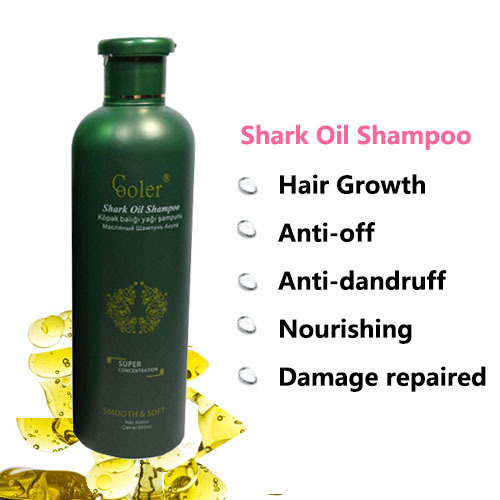 Hair Shampoo Nourishing Hair Repairing Shark Oil Hair Growth Professional Shampoo 500ml