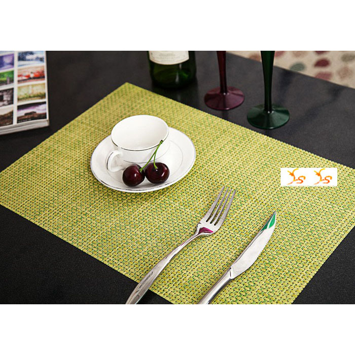 color pvc square table placemats weaving art craft waterproof western mats coasters christmas. Black Bedroom Furniture Sets. Home Design Ideas