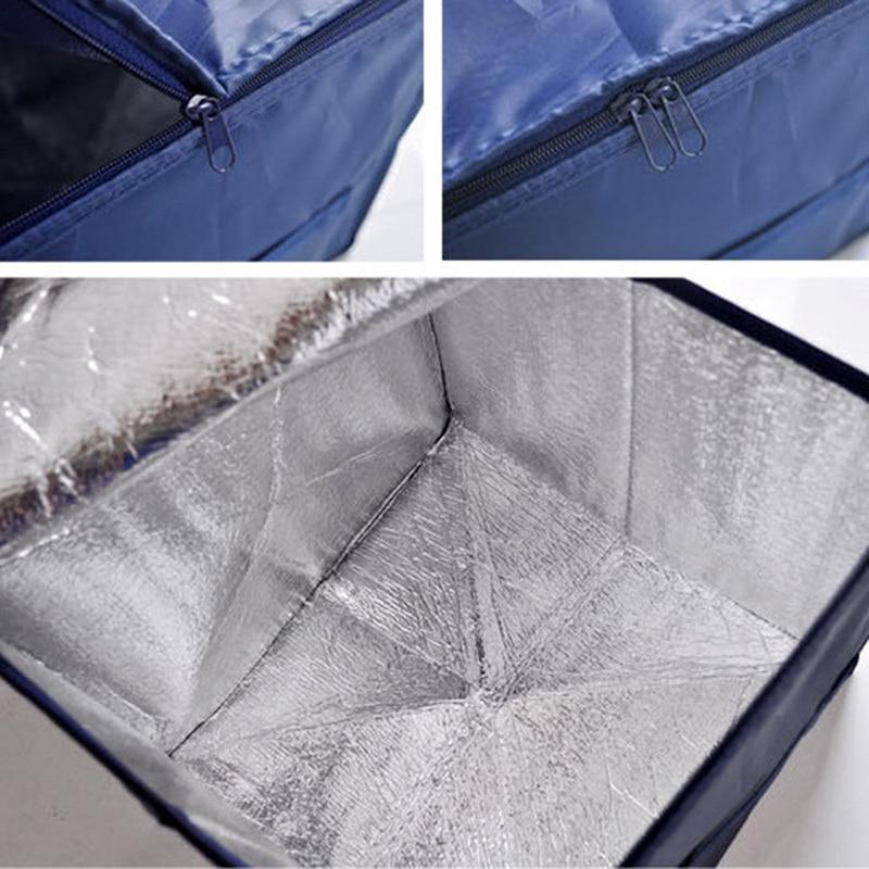 115cm Car Back Organizer Boot Storage Bags Navy Organiser Collapsible Trunk Box