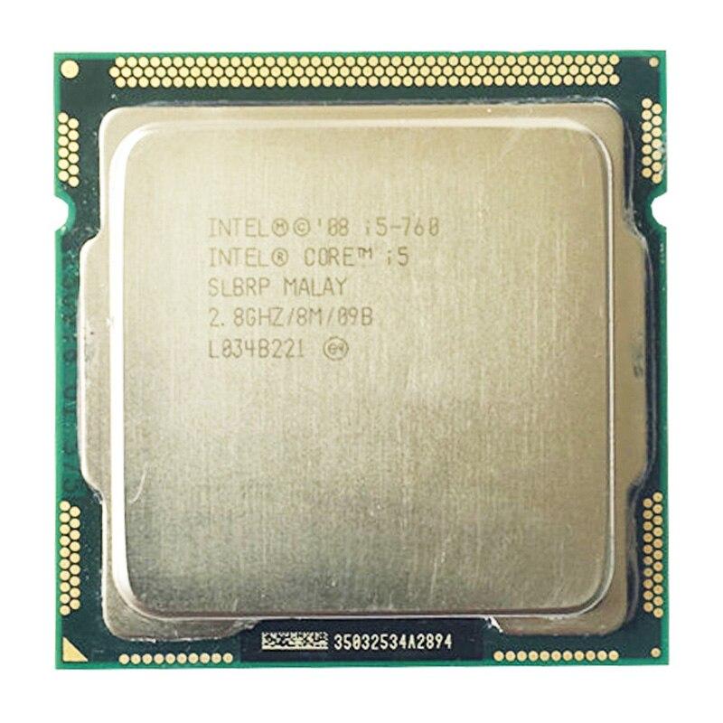 Intel Core i5 760 Processor 2 8 GHz 8MB Quad core Cache Socket LGA1156 45nm Desktop