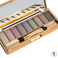 Fashion 9 Colors Eye Shadow Set Bright Makeup Super Flash Glitter Cosmetics Palette Beauty Tools With Brush 666#