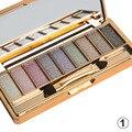 Moda 9 Cores Da Sombra de Olho Conjunto de Maquiagem Brilhante Super Flash Glitter Palette Cosméticos Ferramentas de Beleza Com Escova 666 #