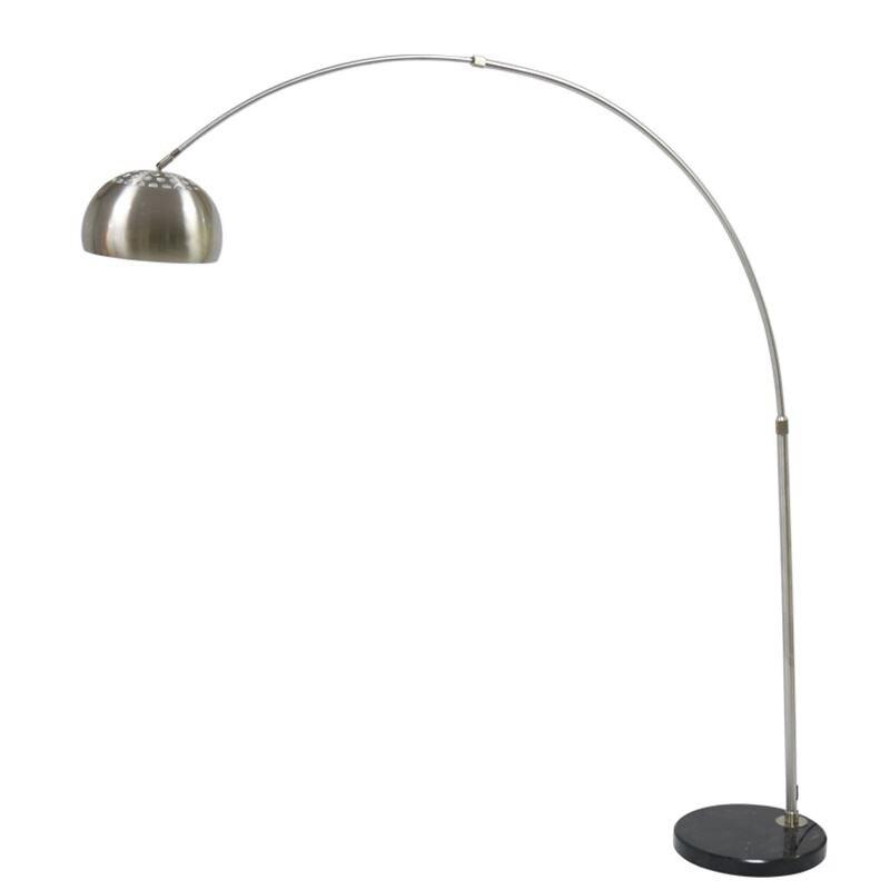 Lampadaire créatif moderne col long parabole forme chrome couleur réglable lampe sur pied E27 lampe siting salle décoration maison