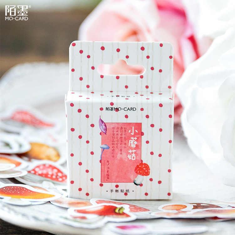40 قطعة/المجموعة اللون الفطر ألعاب أطفال ملصقات يوميات الديكور مذكرات ملصقا القرطاسية ملصقا مذكرة ملصقا هدايا للأطفال