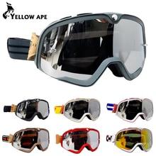 Ретро защитные очки для мотоциклистов Oculos Велоспорт MX ATV внедорожный шлем лыжные спортивные очки для мотоцикла Байк очки гонщика