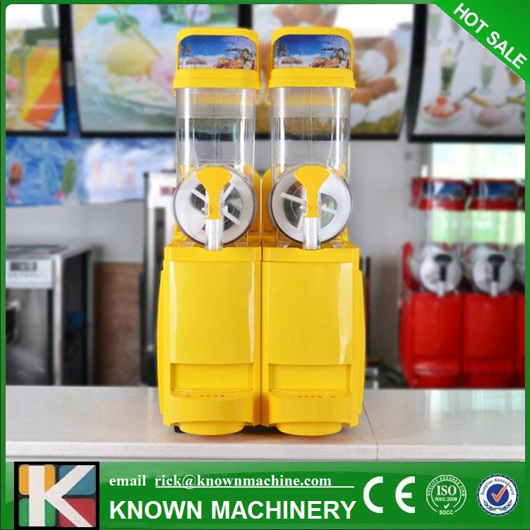 2018 New Slush Machine 12L*2 Cold Drink Dispenser Snow Melting machine Ice Slush Smoothies Machine with free shipping by sea