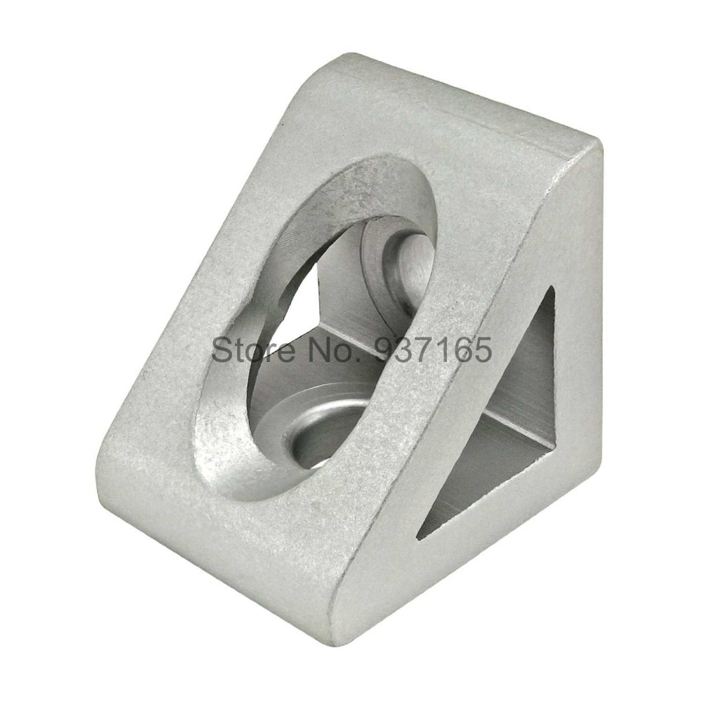 2 hole Inside Guesset Corner Angle L Brackets Fastener Fitting Round Hole for 4040 Aluminum Profile Extrusion 4040 4 hole inside guesset corner angle l brackets fastener fitting round hole for 4545 45x45 aluminum profile extrusion 4545