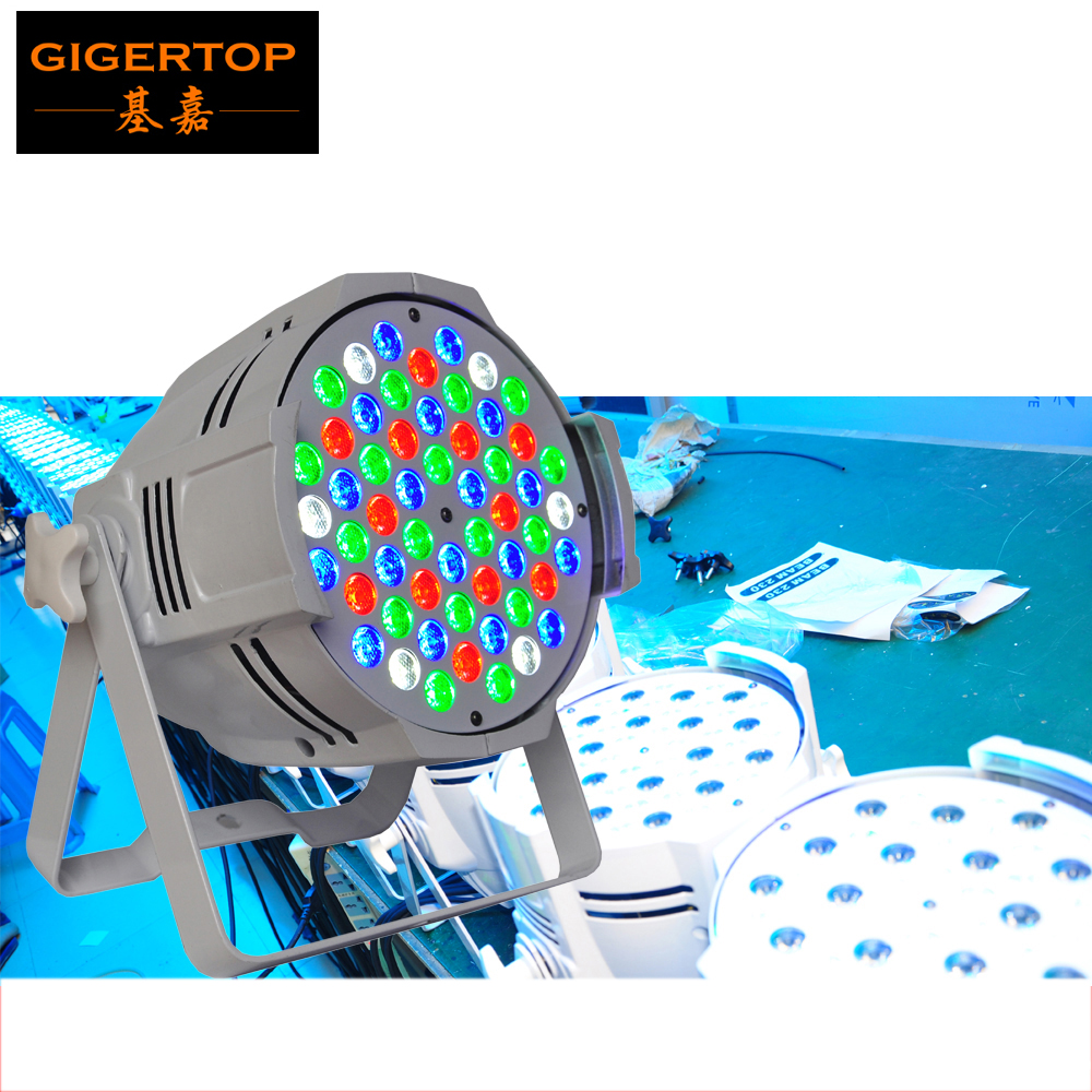 TIPTOP Stage Light 12XLOT White Case Painting 54x3W Aluminum Stage Led Par Cans DMX IN/OUT White Housing for Wedding Decoration tiptop stage light 2xlot big bubble