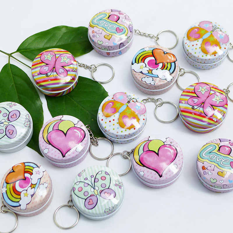 1pc Portable circular square MiNi iron box xylitol storage box wedding seal Jewelry Pill Cases tin box cable organizer container