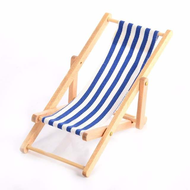 Beach Lawn Chairs Double Papasan Chair Frame Only Online Shop Miniature Colorful Stripe Wooden Diy Lounge Placeholder Dollhouse Garden Ornaments