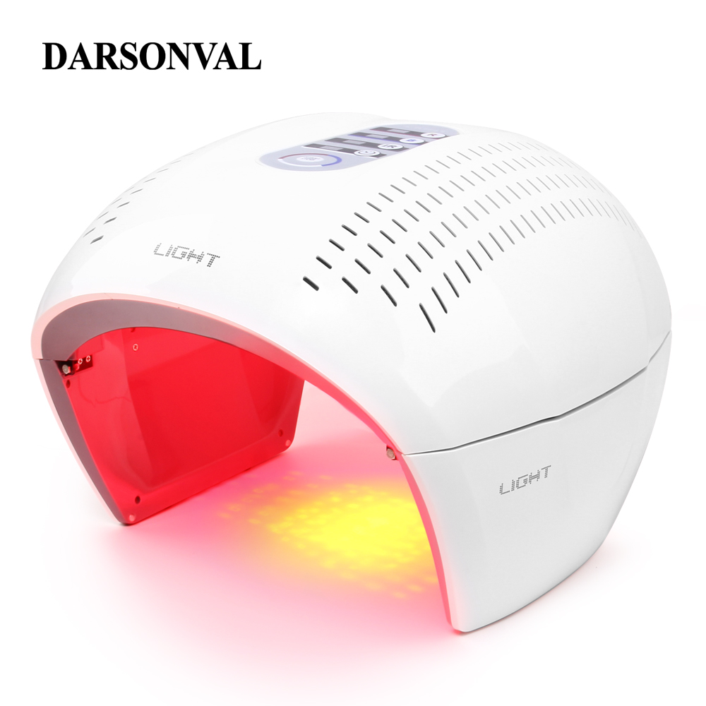 LED Facial Mask Photon Light Energy Therapy Lamp Facial Care Beauty Machine Skin Rejuvenation PDT Anti Aging Acne Wrinkle Remove 4color pdt led light therapy machine face beauty photodynamic lamp acne wrinkle remove skin rejuvenation spa ageless pdt therapy