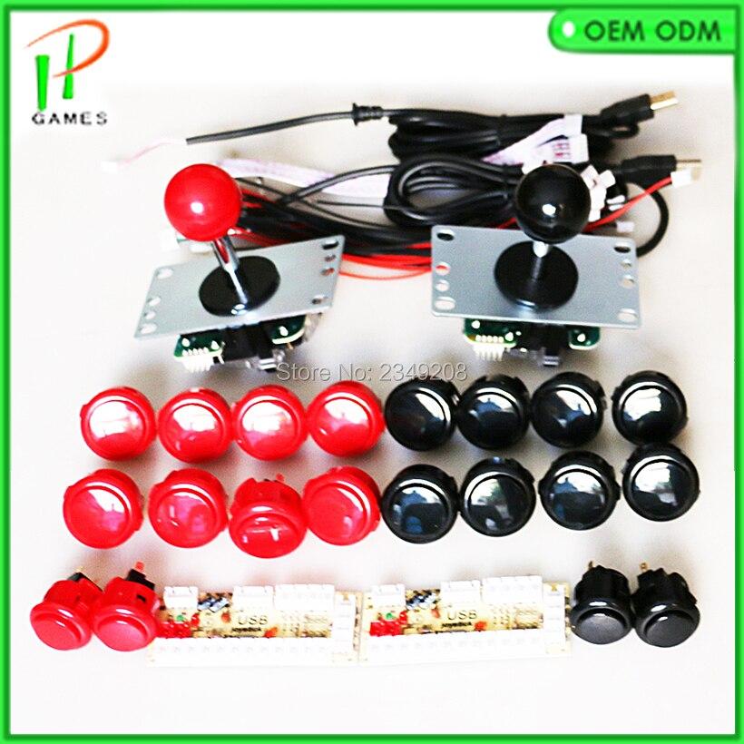 Sanwa Joystick JLF TP 8YT Sanwa OBSF 30/24 Taste USB Null verzögerung Arcade Zu PC Raspberry Pi DIY kit-in Spielautomaten aus Sport und Unterhaltung bei AliExpress - 11.11_Doppel-11Tag der Singles 1