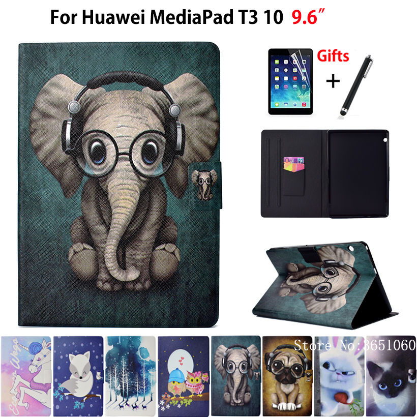 Case For Huawei MediaPad T3 10 AGS L09 AGS W09 AGS L03 9 6 Cover Funda