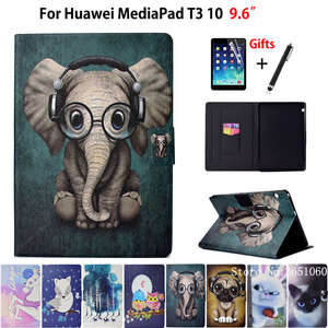 Case Animal Huawei Mediapad Stand Silicone Fashion AGS-W09 for T3 10-ags-l09/Ags-w09/Ags-l03