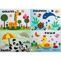 29*21CM 65G 8PCS/LOT 3D EVA Cartoon Lovely Animals Sticker Non-toxic Kids Educational Toys For Children Handmade Materials Gift