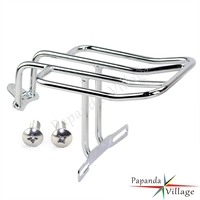 Papanda Motorcycle Chrome Luggage Rack Rear Fender Luggage Rack For Harley Sportster 883 1000 1100 1200