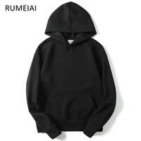 RUMEIAI 2017 New Brand Hoodie Streetwear Hip Hop Red Black Gray Pink Hooded Hoody Mens Hoodies