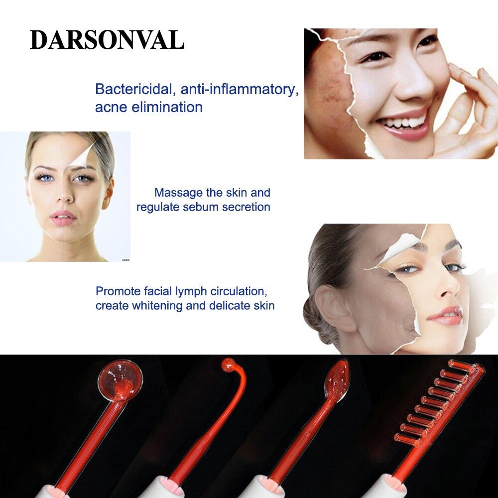 DARSONVAL Électrode Portable Haute Fréquence Spot Acné Remover soins de la peau du visage de Massage Pour Le Visage Beauté Dispositif Spa Salon Accueil - 5