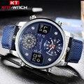 Мужские наручные часы с кожаным циферблатом  кварцевые часы с кожаным светодиодом и цифровым циферблатом  спортивные армейские военные час...
