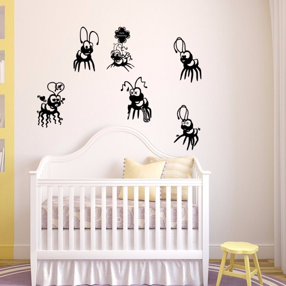 Cute Cartoon Formiche Vinile Adesivo Home Decor Camera Dei Bambini