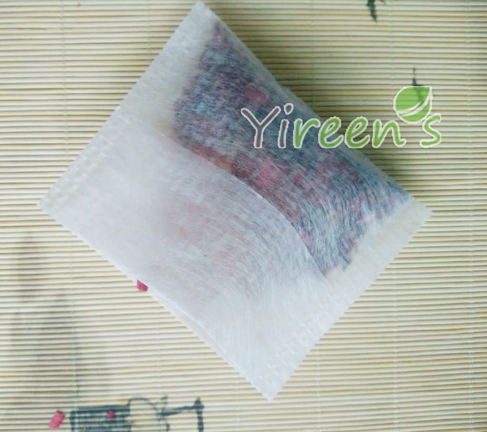 Free Shipping! 100pcs 65 X 70mm Corn Fiber Filter Bag, Opposite Fold Close, Empty PLA Tea Bag, Coffee Filters, Bio-degrable
