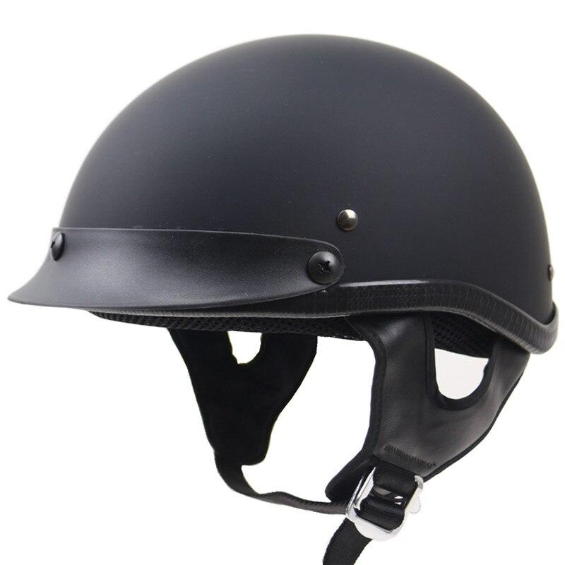 Uni sesso metà viso moto casco gg fibbia chopper bike casco dot approvato moto casco s m l xl xxl disponibile