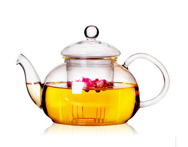 1PC New Practical Resistant Bottle Cup Glass Teapot With Infuser Tea