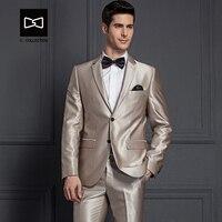 Tailor made Men Champagne Shinning Suit Slim fit Wedding Suit Men Tuxedo 2 Pieces(Jacket+Pants) No.SZ160X9