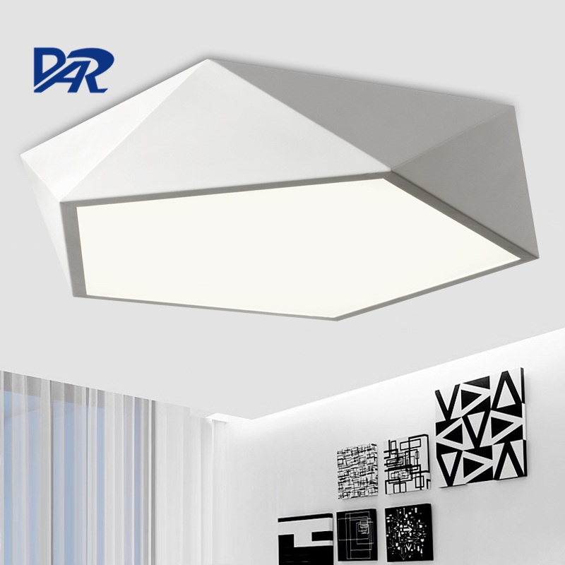 Modern Led Ceiling Lights Black/White Plafon Led Ceiling Lamp Fixture For Living Room Bedroom Home Lighting Luminaria Teto square white black modern led high quality ceiling lights for living study bedroom kids room ultra thin hot ceiling lamp fixture