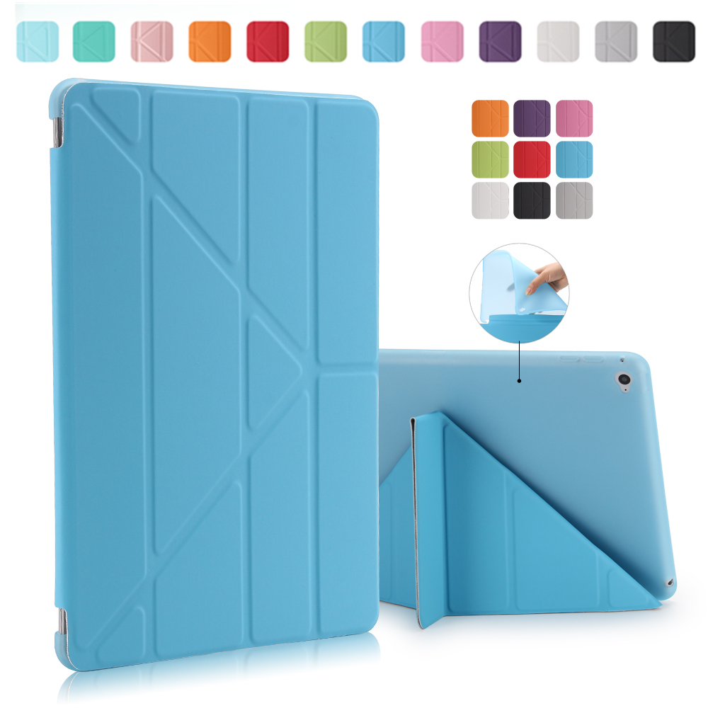 For iPad pro 10.5 Ultrathin PU Leather Case Smart Cover + Soft TPU translucent back case For ipad mini 4 3 2 For ipad 2 3 4 5 6 new luxury ultra slim silk tpu smart case for ipad pro 9 7 soft silicone case pu leather cover stand for ipad air 3 ipad 7 a71