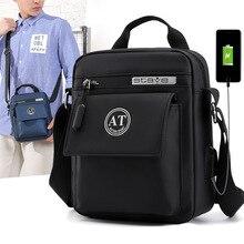 2019 New Arrival USB Charging Men Shoulder bags Brand Fashion Male handbag Casual Waterproof Bolsas Small Man messenger bag