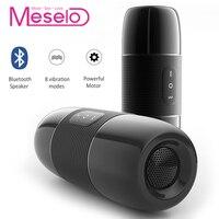 Meselo Bluetooth Audio Male Masturbator For Man 10 Modes Vibrator Bluetooth Speaker Artificial Vagina Pussy Sex Toys For Men NEW