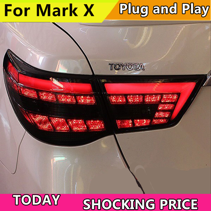 Car styling Taillights for Toyota Reiz Mark X LEDTail Lights 2010-2012 Mark X LED Tail Light Rear Lamp DRL+Brake+Park+Signal термокружка mark park eve online