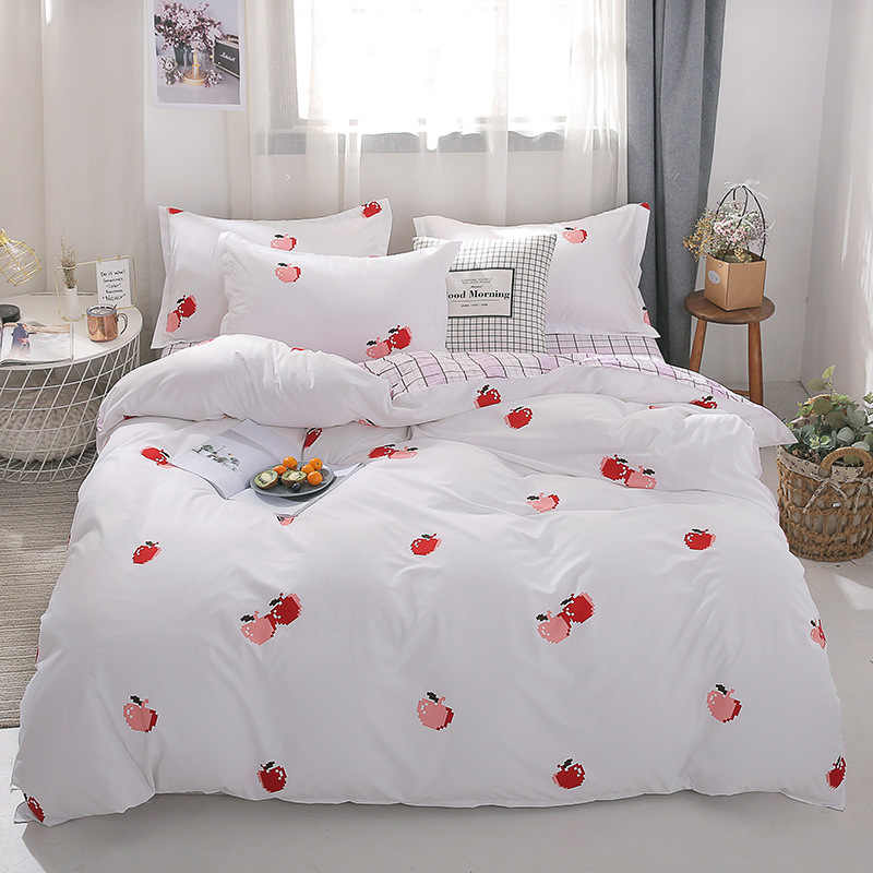 Cherry 4pcs Girl Boy Kid Bed Cover Set Duvet Cover Adult Child Bed Sheets And Pillowcases Comforter Bedding Set 2TJ-61016