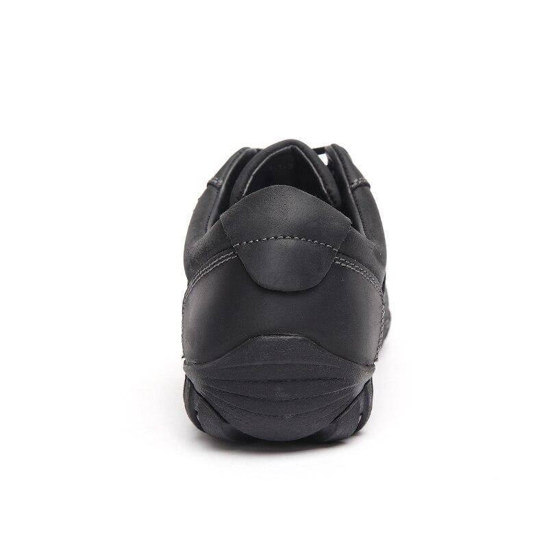 LINGGE hombres Zapatos Vintage Lace Up de Cuero de Grano Completo de Cuero Zapat