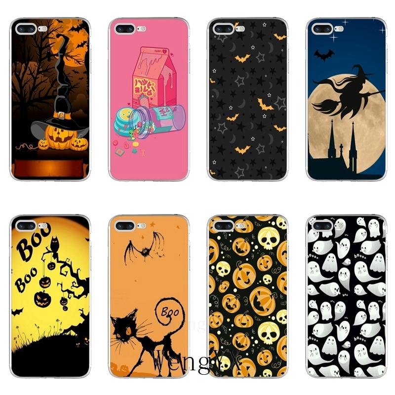 Pumpkin Halloween Bat Witch Boo Slim silicone TPU Soft phone case For Xiaomi Mi 6 6X A1 5 5s 5x 4 4c 3 mix max 2 note 2