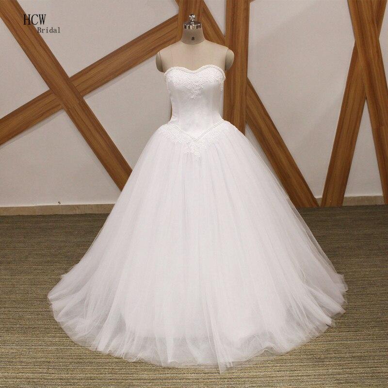 Vestido De Noiva 2019 Strapless Princess Wedding Dress
