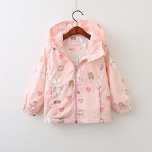 Baby Girls Outerwear Brand New Girls Clothes Spring Autumn Style Love Cartoon Bunny Zipper Long Sleeves Kids Coats Jackets