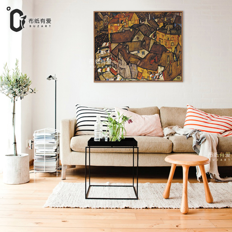 Old village House landscape painting Interior decoration Paintings on  Canvas wall painting living room No Frame-in Painting & Calligraphy from  Home & Garden ...
