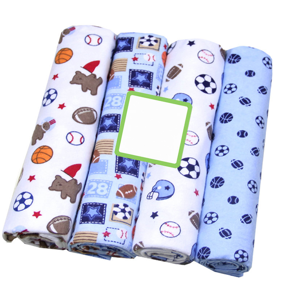 4Pcs/Lot Baby Blanket Kids Muslin Diapers Swaddle 100% Cotton Flannel Diapers For Newborns Kid Photography Blankets Newborn Wrap