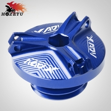 For Honda XADV750 XADV X-ADV 750 2017-2018M20*2.5 Aluminum Motorcycle Accessories Engine Moto Oil Cup Fuel Filler Tank Cap Cover