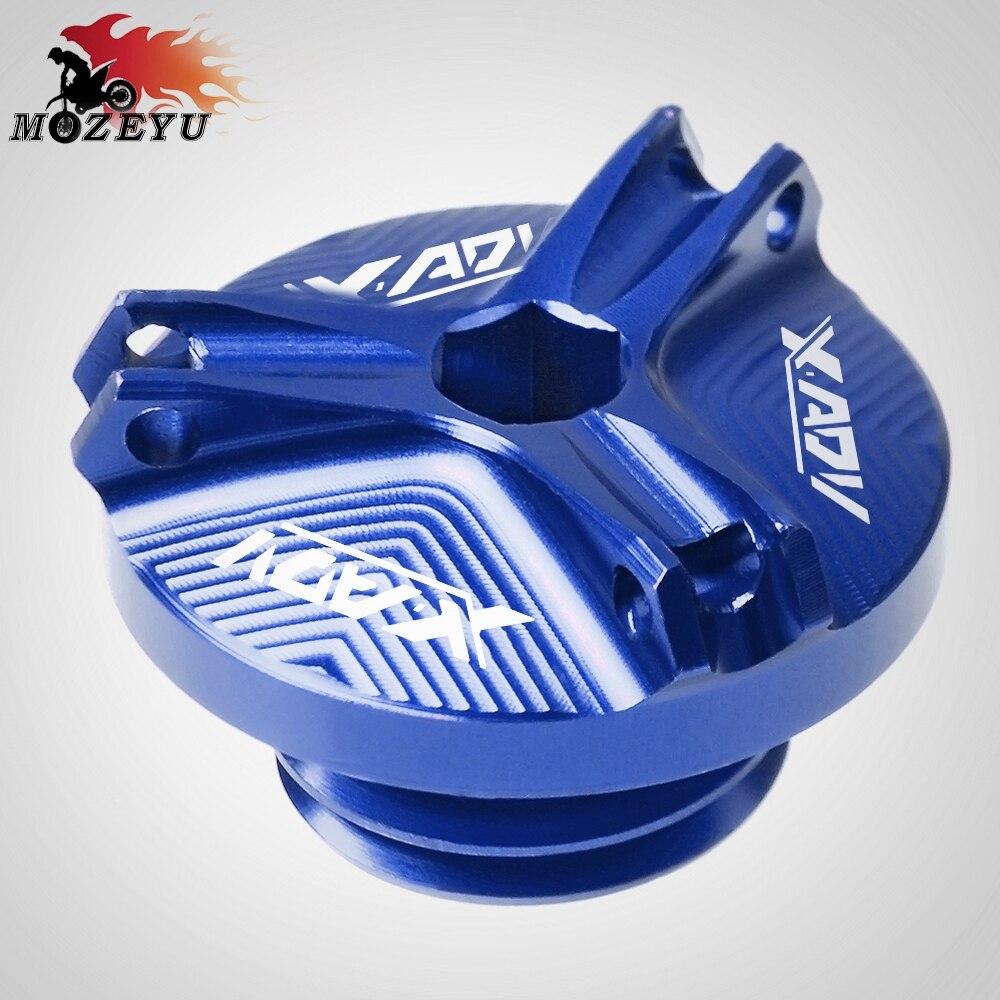 Para Honda XADV750 XADV X-ADV 750 2017-2018M20*2.5 de Alumínio Acessórios Da Motocicleta Moto Xícara de Óleo Do Motor Fuel Filler Cap Tanque cobrir
