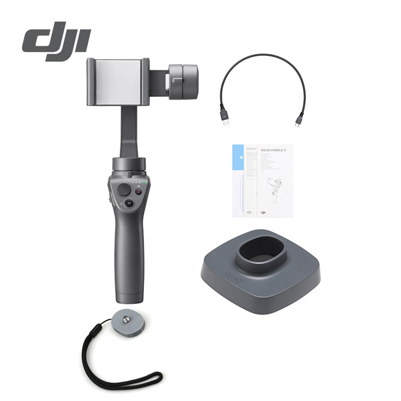 DJI Osmo Mobile 2 3 Axis Handheld Stabilizer for Smartphone 3 axis Handheld Gimbal Stent Zoom Control Panorama for iPhone Huawei