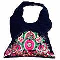 Chino tradicional bordado de la vendimia viento nacional de las mujeres de gran tamaño de asas casual bolsa de lona del hombro bolso del estilo étnico