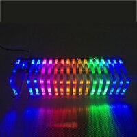 led music Brand new Diy KS16 Fantasy crystal sound column light cube LED music spectrum Level display electronic production DIY kits 1PCS (2)