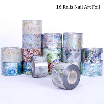 16 Rolls 120m Water Transfer Marble Stone Rock Nail Wraps Sticker Manicure Decals Nail Foil Sticker Art Sexy Women Tips TR493 - DISCOUNT ITEM  0% OFF All Category