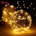 10 M Impermeable del Alambre de Cobre led luces de 100 led Luces De Hadas De Cadena para la Boda de Navidad Decoración Del Partido del Día de San Valentín DC220V