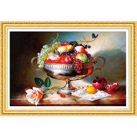 DIY 5D Diamond Embroidery Fruits Landscape Round Diamond Painting Cross Stitch Kits Mosaic Home Decoration Gift