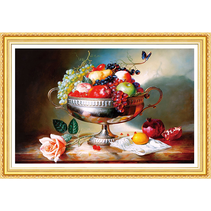 DIY 5D Diamond Embroidery,Fruits,landscape,Round Diamond Painting Cross Stitch Kits Mosaic Home Decoration gift