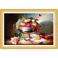 DIY 5D Diamond Embroidery Fruits Landscape Round Diamond Painting Cross Stitch Kits Mosaic Home Decoration Gift